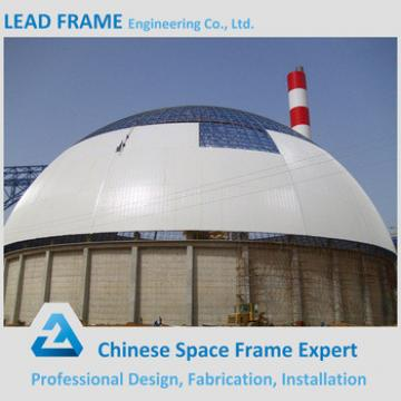 Prefab light steel dome structure for power plant