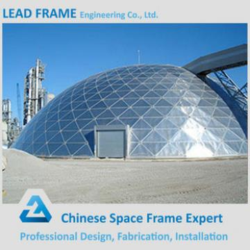 Economical space frame dome shed for coal storage
