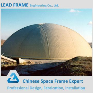 Lightweight dome space frame for coal storage