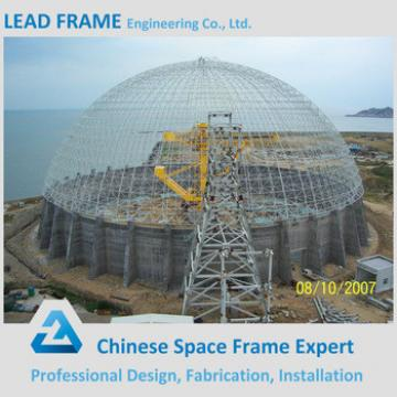 Large Span Prefab Steel Structure Space Frame Dome Shed
