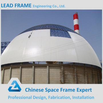 Prefabricated steel building space frame dome shed coal power plant