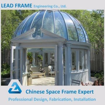 2017 Pre Engineering Curved Glass Roof Sunroom Made In China