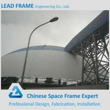 Customized steel space frame roofing for coal storage