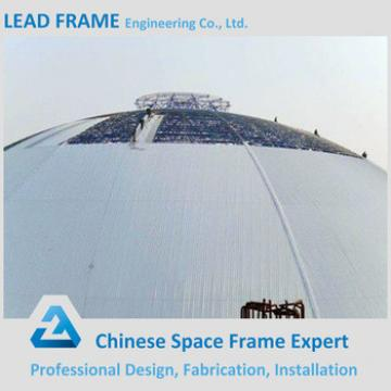 Prefab Long Span Dome Dry Coal Shed Storage Metal Roof