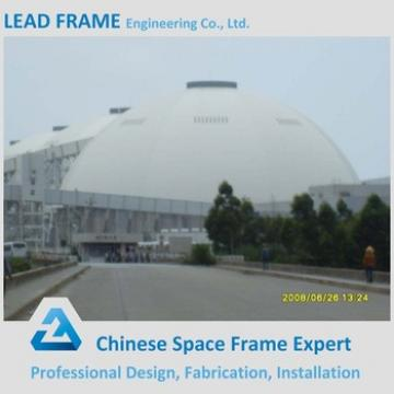 Space frame storage shed for coal power plant