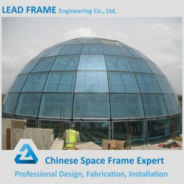 High Rise China Geodesic Prefab Steel Space Frame Fiberglass Dome