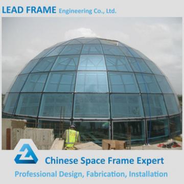 wide span flexible design light steel frame large domes glass