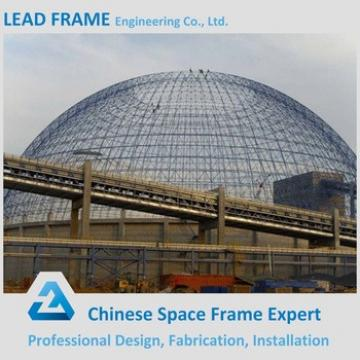 Stormproof coal power plant space frame storage