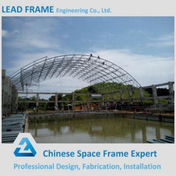 Long span arched steel swimming pool roof