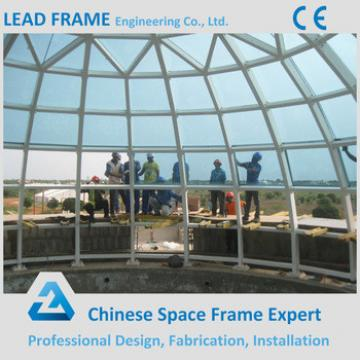 Large Scale Light Weight Steel Space Frame Acrylic Dome