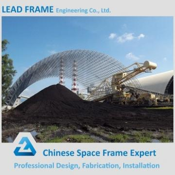 Industrial Price Curved Roof Steel Structure Shed With Sandwich Panel for Coal Storage