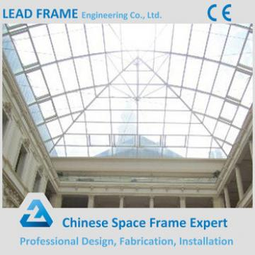 Light Steel Space Frame Structure Glass Roof Dome