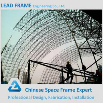Storm-proof economical steel frame system for power plant coal shed