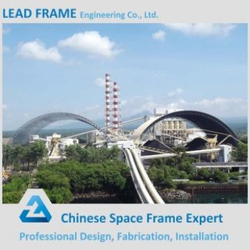 Hot Dip Galvanized Steel Space Frame Structure Semicircular Coal Storage Roof System