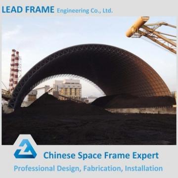 Wide Span Steel Space Frame Longitudinal Coal Storage Shed