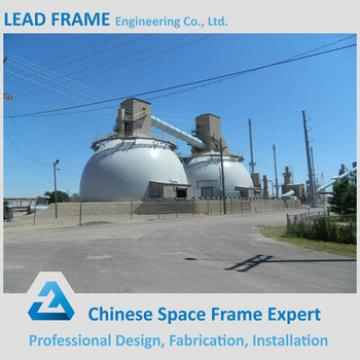 Prefab light steel dome space frame for power plant
