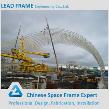 Space steel structure coal shed fabrication