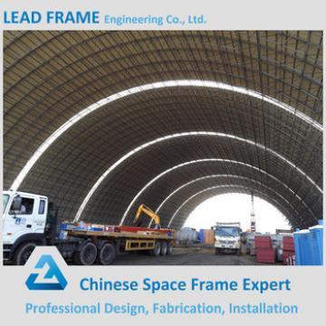 Power Plant Used Coal Storage Shed Steel Structure Space Frame Building with Arch Shape