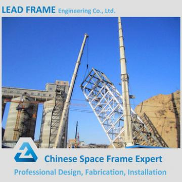 Galvanized steel bridge construction
