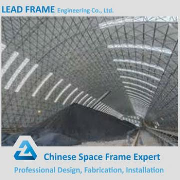 long span prefabricated barrel coal storage steel structure shed design