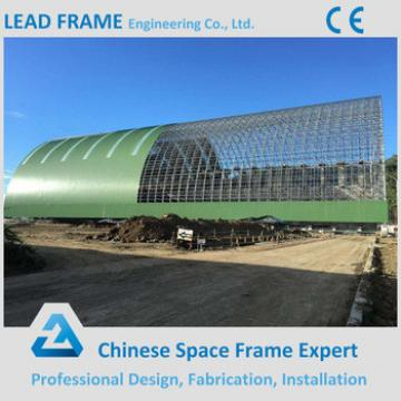 Grid structure steel space frame system coal storage shed