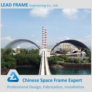 New style low cost prefab space frame design for coal storage