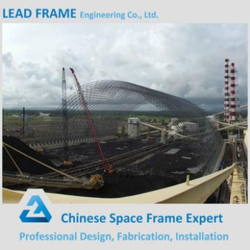 Pre-engineered steel spaceframe for coal shed