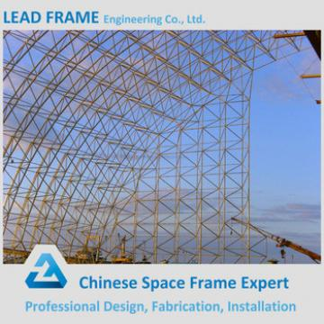 rigid construction design of space frame steel structure