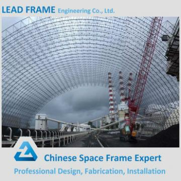 Prefab large span security steel structure shed roofing
