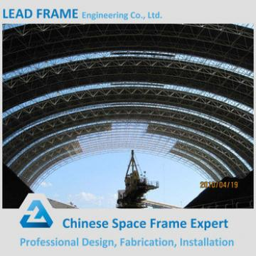 Low Cost Prefab Storage Shed Tube Space Frame With Roof Cover