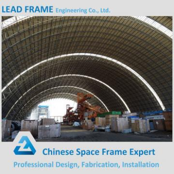 Prefabricated design Stainless steel space frame coal storage shed