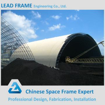 Stainless Steel Metal Building Barrel Coal Storage Prefabricated Steel Roof Frame