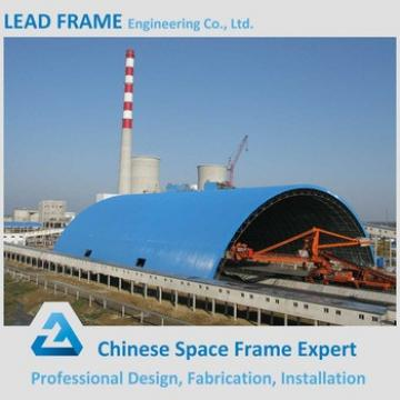 Steel roof covering coal storage shed from China