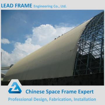 Customized structural steel prefabricated space frame building for coal shed