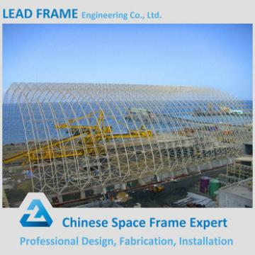 Professional Design Steel Space Frame Structure Arched Dry Coal Shed