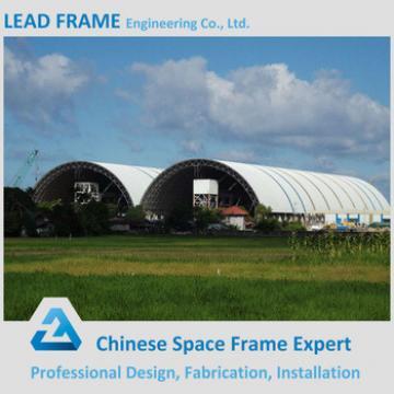 Outdoor Prefab Light Steel Frame Longitudinal Coal Storage Shed