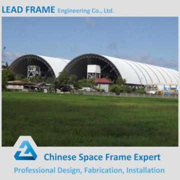 Space frames barrel vaults coal storage shed