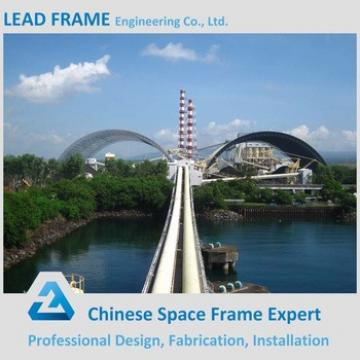 Pre-engineering steel frame system for power plant coal shed