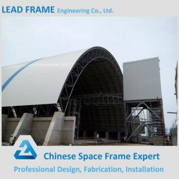Steel roof truss coal storage shed building