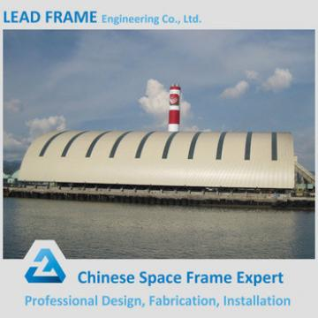 Prefab large span security coal storage economic roof covering