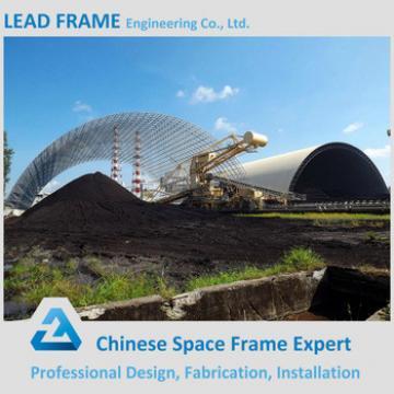 Xuzhou Lead Frame Steel Space Frame Roof Coal Stockyard Shed