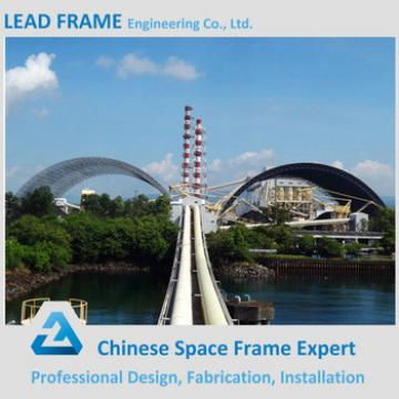 Light steel space frame roofing for building