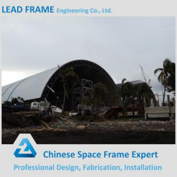 Wind resistant canopy galvanized steel frame building