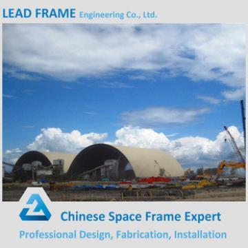large span coal storage shed steel frame design