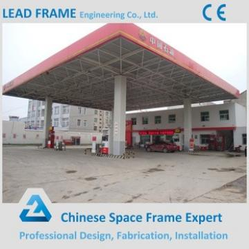 Economic cost of gas station canopy with space frame