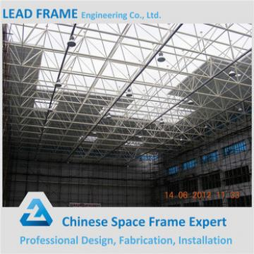 Large span prefabricated steel space frame structure warehouse