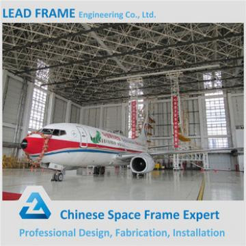 Long Span Light Steel Frame Windproor Arch Hangar with Sliding Door