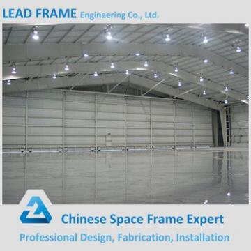 Light Large Span Space Frame Aircraft Hangar With Electric Door