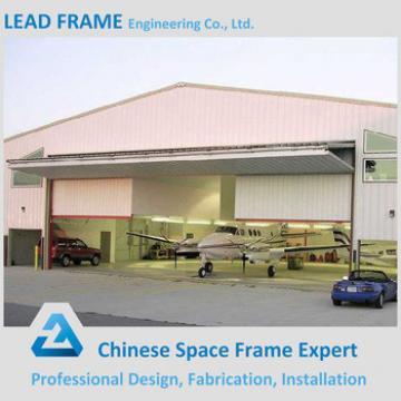 Steel arch roof truss design for aircraft hangar