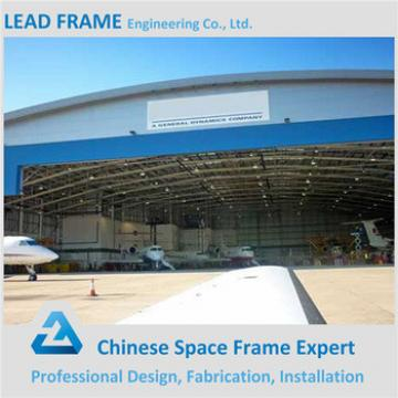 galvanized color steel space frame prefabricated arched hangar